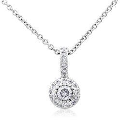 14k White Gold 0.50CTW Diamond Pendant, (I1-I2/H-I)