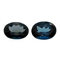 43.31 ctw. Natural Oval Cut London Blue Topaz Parcel of Two