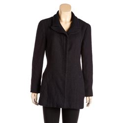 Chanel Navy Blue Tweed Mid-Length Jacket