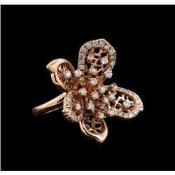 14KT Rose Gold 1.29 ctw Diamond Ring