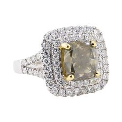 4.49 ctw Diamond Ring - 18KT White Gold