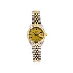 Rolex 14KT Two-Tone Diamond DateJust Ladies Watch