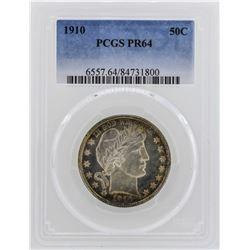 1910 Barber Half Dollar Proof Coin PCGS PR64