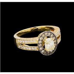 14KT Yellow Gold 0.95 ctw Diamond Unity Ring