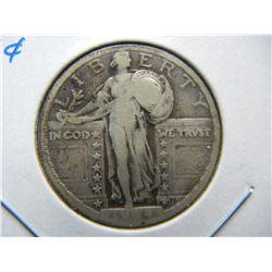 1924 Standing 25c.  Fine+.
