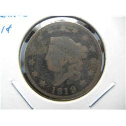 1819 Large 1c.  Large Date.