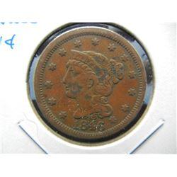 1846 Large 1c.  Fine.