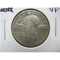 1929-D Standing Liberty 25c.  VF.  Scarce.