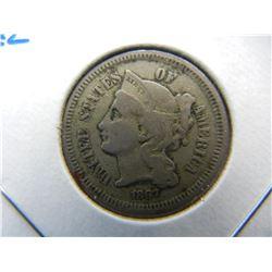 1867 3c Nickel.  VF.