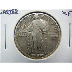 1927 Standing Liberty 25c.  XF.