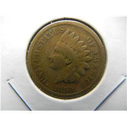 1859 Indian 1c.  VG.  1 Year Type.