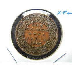 1883 India 1/4 Anna.  XF+.