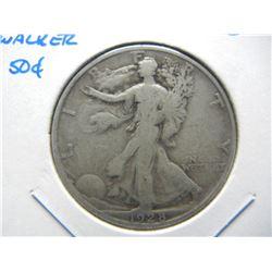 1928-S Walker 50c.  Scarce Date.
