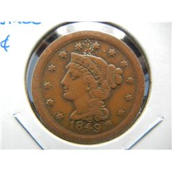 1849 Large 1c.  Fine.
