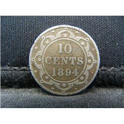1894 Newfoundland 10c.  Rare.