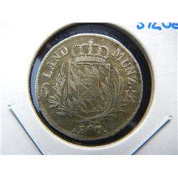 1807 Germany 6 Kreuzer.  Silver.