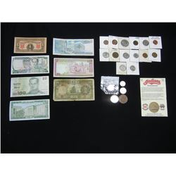 Misc. Lot:  Foreign Currency, U.S. and Foreign Coins.
