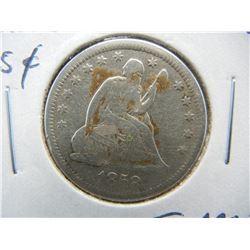 1858-O Seated 25c.  Fine Details.  Scarce Date.