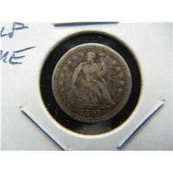 1841 Seated Half Dime.  VF Details.