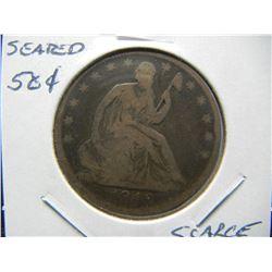 1849-O Seated 50c.  Fine.  Scarce Date.