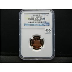 2014-S Lincoln 1c.  Early Releases.  NGC PF 69 RD ULTRA CAMEO.