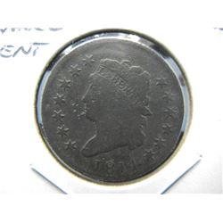 1814 Large Cent.  VF Details.  Scarce.