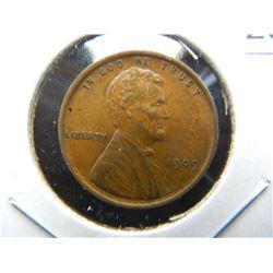 1909-VDB 1c.  AU/UNC.