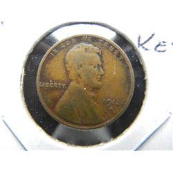 1913-S Lincoln 1c.  Fine.  Semi-Key.