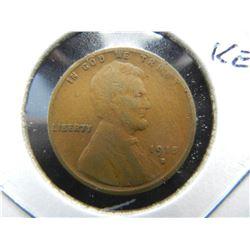 1915-S Lincoln 1c.  Fine.  Semi-Key.