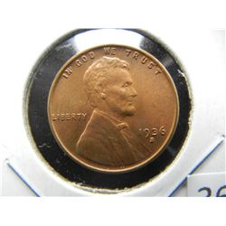 1936-S Lincoln 1c.  Choice UNC.