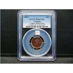 2012 Canada 1c.  PCGS MS67RD.