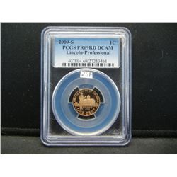 2009-S Lincoln 1c.  PCGS PR69RD DCAM.  Lincoln-Professional.
