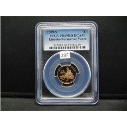 2009-S Lincoln 1c.  PCGS PR69RD DCAM.  Lincoln-Formative Years.