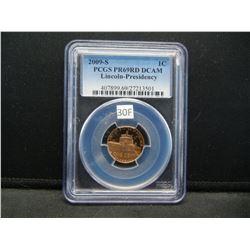 2009-S Lincoln 1c.  PCGS PR69RD DCAM.  Lincoln-Presidency.