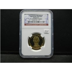 2010-S Sixteenth President Abraham Lincoln $1.  NGC PF 69 ULTRA CAMEO.