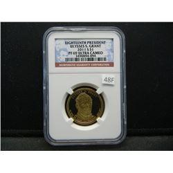 2011-S Eighteenth President Ulysses S. Grant $1.  NGC PF 69 ULTRA CAMEO.