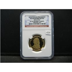 2011-S Nineteenth President Rutherford Hayes $1.  NGC PF 69 ULTRA CAMEO.