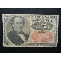 5th Issue 25c Fractional Currency.