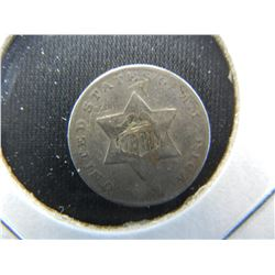 1851 3c Silver.  VF Details.