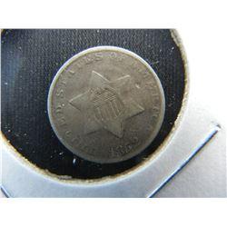 1852 3c Silver.  VF.