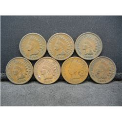 1888, 1889, 1890, 1891, 1892, and 1893 Indian 1c.