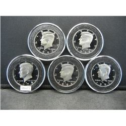 5 Gem Proof Kennedy 50c.  1979-S, 1992-S, 1993-S, 1994-S, and 1997-S.