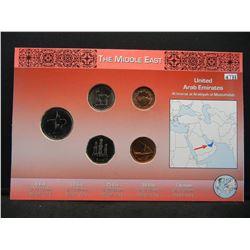 United Arab Emirates 5 coin Unc set