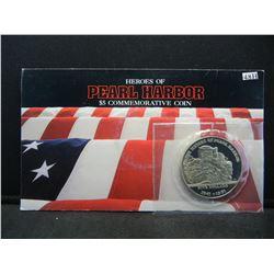 "1991 Marshall Islands $5 Commem.  ""Heroes of Pearl Harbor"""