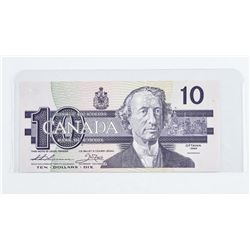 1989 - $10 Bill - Thiessen & Crow - Serial Number : ADD4742440. UNC.