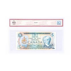 "1979 - $5 Bill - Crow & Bouey - Serial Number : 30546746783[BC-53B : (121,700,000 printed)] ""UNC 60"