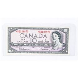 BANK OF CANADA 1954 * Replacement 10.00 Note Modified Portrait