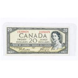 BANK OF CANADA 1954 20.00 Devil's Face Note. VF