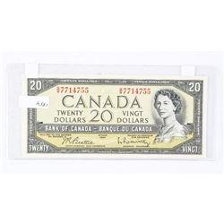 Bank of Canada 1954 20.00 UNC B/R