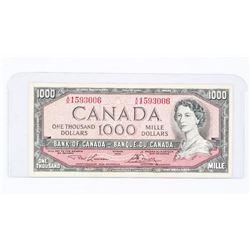 Bank of Canada 1954 1000.00 Modified Portrait L/B